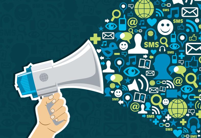 Social-Media-Loudspeaker